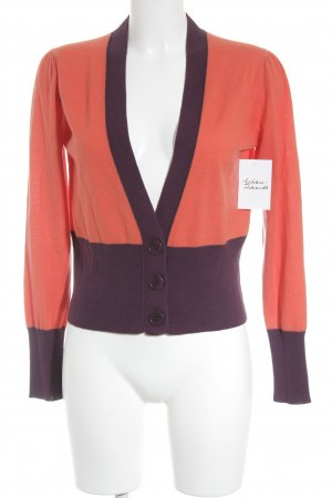 Marc Cain Strickjacke dunkelorange-braunviolett Casual-Look