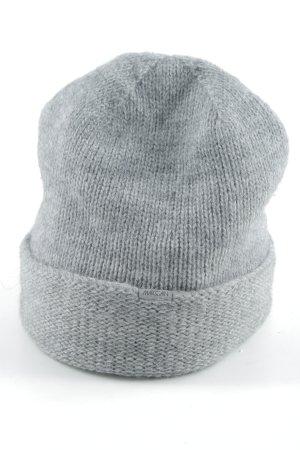 Marc Cain Chapeau en tricot gris style décontracté