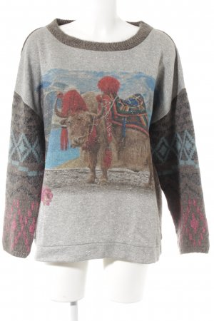 Marc Cain Strickpullover Animalmuster Casual-Look