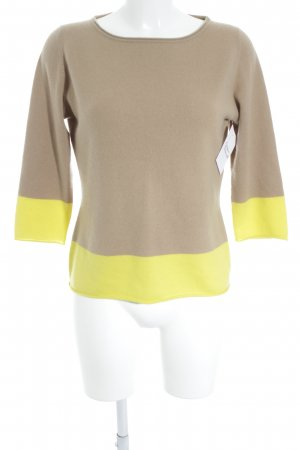 Marc Cain Strickpullover beige-gelb Casual-Look