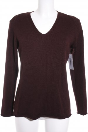 Marc Cain Strickpullover bordeauxrot Casual-Look
