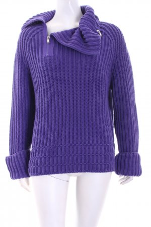 Marc Cain Strickpullover lila Casual-Look