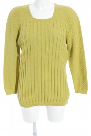 Marc Cain Strickpullover limettengelb Casual-Look