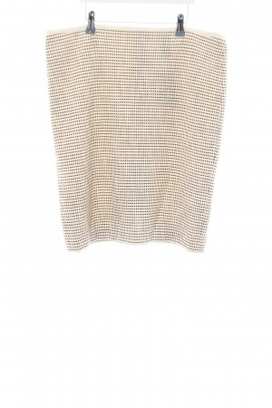 Marc Cain Knitted Skirt natural white-black spot pattern casual look