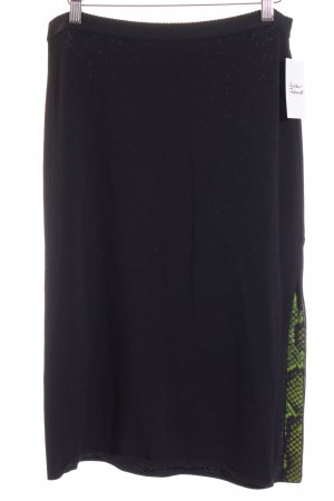Marc Cain Knitted Skirt black-green animal pattern classic style
