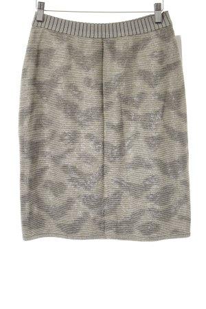 Marc Cain Gebreide rok wolwit-zwart camouflageprint stedelijke stijl