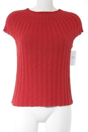 Marc Cain Camisa tejida rojo Patrón de tejido look casual