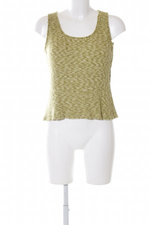 Marc Cain Top de punto verde moteado look casual