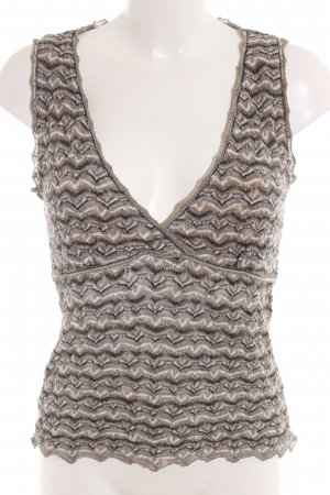 Marc Cain Knitted Top zigzag pattern casual look