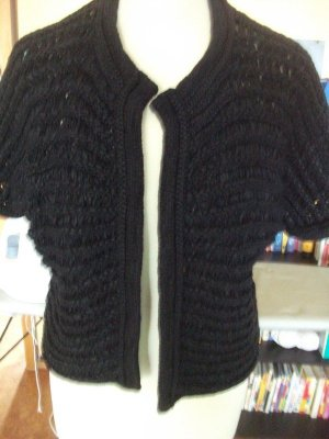 Marc Cain Short Sleeve Knitted Jacket black