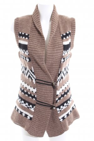 Marc Cain Knitted Vest graphic pattern casual look
