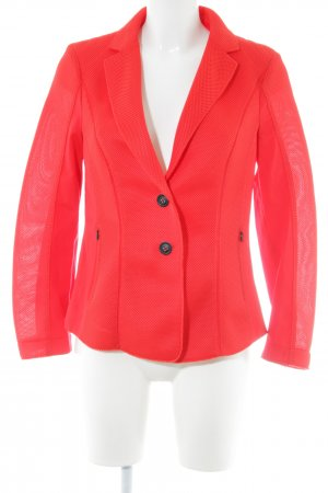 Marc Cain Sweat Blazer red weave pattern casual look