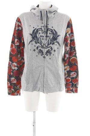 Marc Cain Sweat Jacket flower pattern street-fashion look
