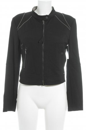 Marc Cain Sweatjacke schwarz Casual-Look