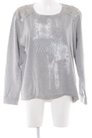 Marc Cain Suéter gris claro degradado de color look casual