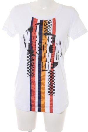 Marc Cain T-Shirt abstrakter Druck Logo-Applikation