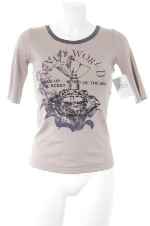 Marc Cain T-Shirt altrosa-braunviolett Casual-Look