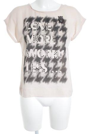 Marc Cain T-Shirt altrosa-schwarz minimalistischer Stil