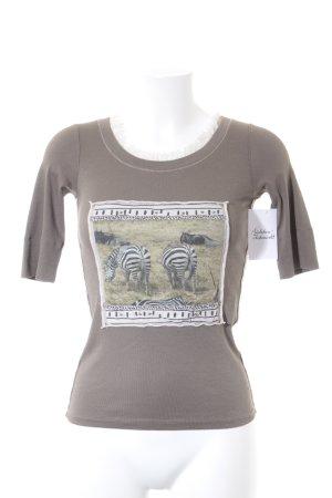 Marc Cain T-Shirt graubraun Casual-Look