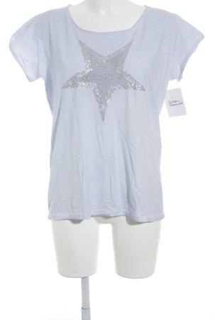 Marc Cain T-Shirt himmelblau Casual-Look