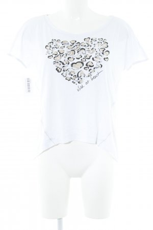 Marc Cain T-Shirt weiß Herzmuster Casual-Look