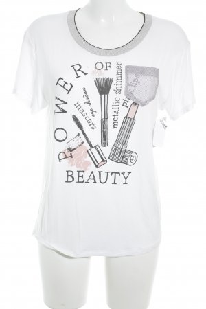 Marc Cain T-Shirt weiß-schwarz Casual-Look