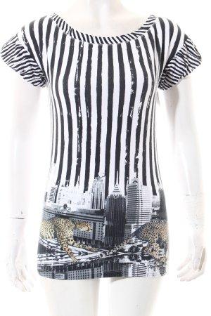 Marc Cain T-Shirt weiß-schwarz Motivdruck Casual-Look