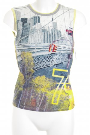 Marc Cain Tanktop gelb-hellgrau sportlicher Stil
