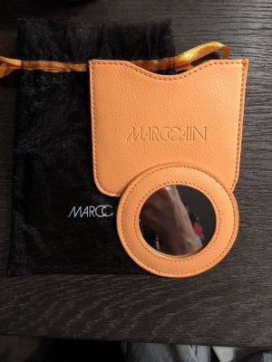 Marc Cain Taschen Spiegel Taschenspiegel Handspiegel Leder Neu und OVP