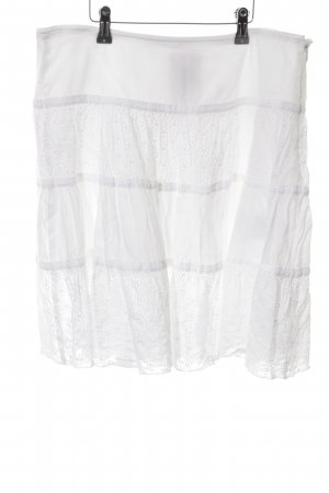 Marc Cain Jupe corolle blanc style transparent