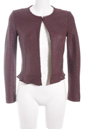 Marc Cain Tweed blazer paars zakelijke stijl