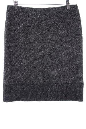 Marc Cain Jupe en tweed gris foncé motif pied-de-poule style décontracté