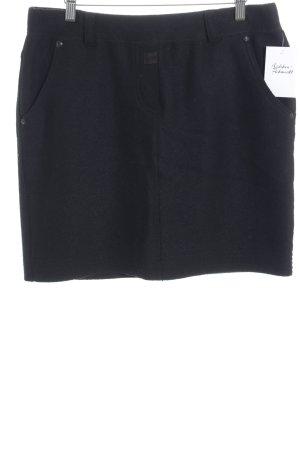 Marc Cain Jupe en tweed noir style d'affaires
