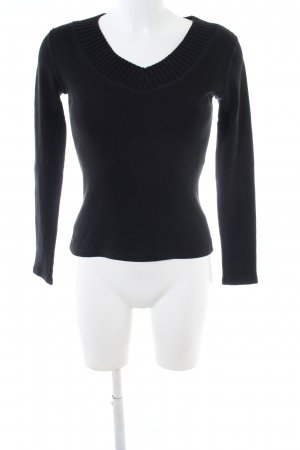 Marc Cain V-Neck Sweater black business style