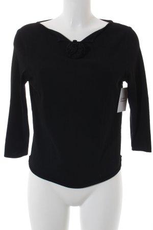 Marc Cain V-Ausschnitt-Pullover schwarz Business-Look
