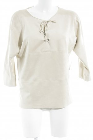 Marc Cain V-Ausschnitt-Shirt creme Street-Fashion-Look