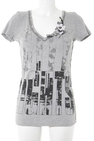 Marc Cain V-Ausschnitt-Shirt Mustermix Casual-Look