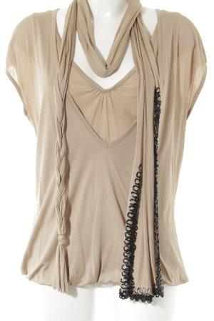 Marc Cain V-Ausschnitt-Shirt nude klassischer Stil