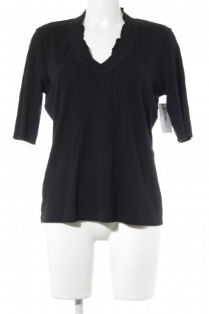 Marc Cain V-Ausschnitt-Shirt schwarz Casual-Look