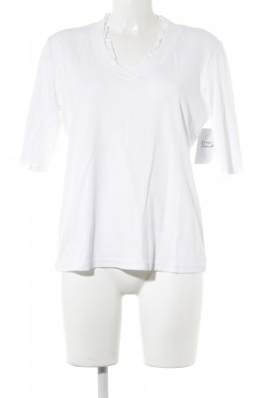 Marc Cain V-Neck Shirt white casual look