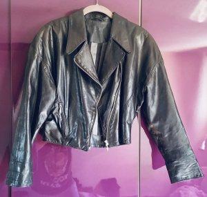 Marc Cain Vintage kurze Lederjacke schwarz