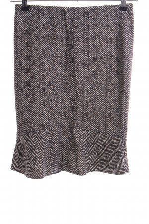 Marc Cain Flounce Skirt light grey abstract pattern business style