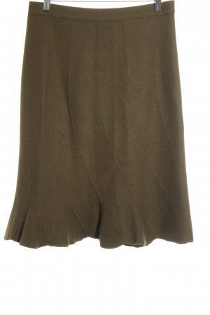 Marc Cain Flounce Skirt green grey casual look