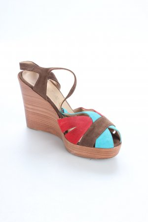 Marc Cain Wedge Sandals multicolored classic style