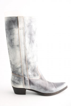 Marc Cain Western Boots light grey-white color gradient extravagant style