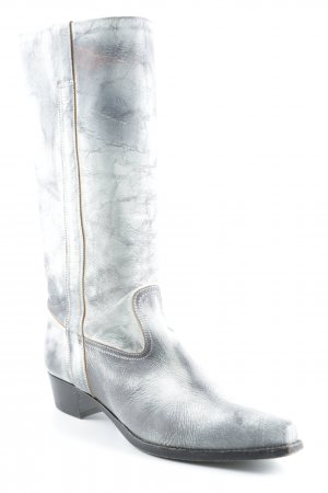 Marc Cain Western Boots natural white-anthracite second hand look