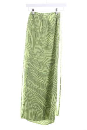 Marc Cain Wraparound Skirt green-lime-green striped pattern beach look