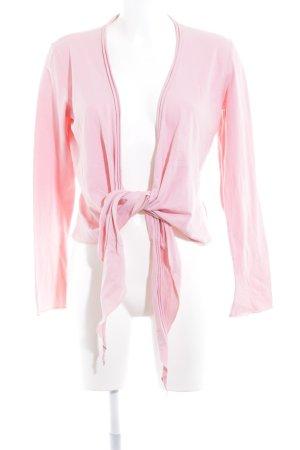 Marc Cain Camisa cruzada rosa estilo minimalista