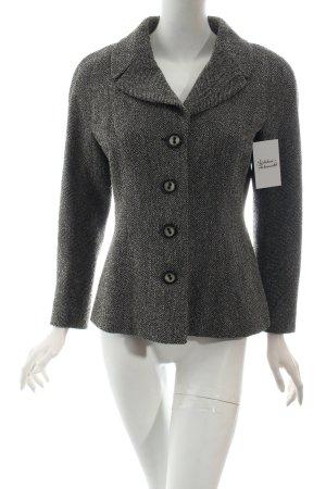 Marc Cain Blazer en laine noir-blanc cassé motif à chevrons style simple