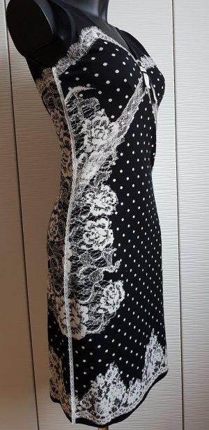 Marc Cain Abito di maglia nero-bianco Lana vergine